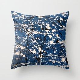 Blue Carnage Throw Pillow