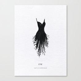 Little Black Fringe Dress Canvas Print