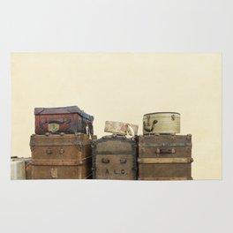 Steamer Trunks and Vintage Luggage Rug