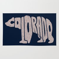 colorado Area & Throw Rugs featuring Colorado by Jake Martin