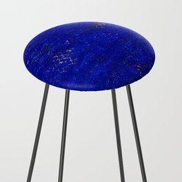-A5- Royal Calm Blue Bohemian Moroccan Artwork. Counter Stool