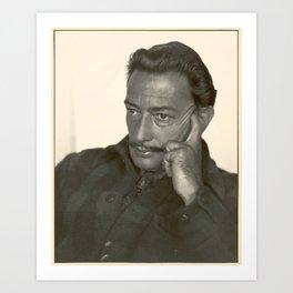 Salvador Dali old photo Art Print