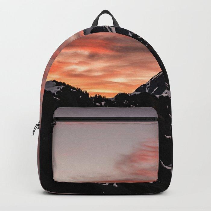 Pink Sky - Cascade Mountains Backpack