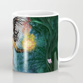 Fairy with wings and butterflies Coffee Mug