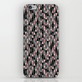 Triangle Sympony Grey Blush and Coral Geometric iPhone Skin