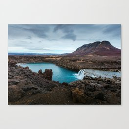 Lake Mountain sky blue Canvas Print