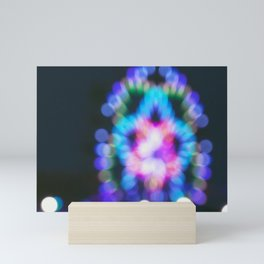 Abstract Ferris Wheel Lights Mini Art Print