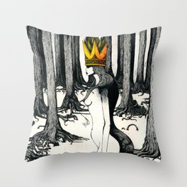 The Mad Queen. Throw Pillow