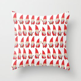 Gnome Pattern Throw Pillow