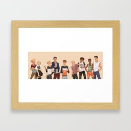 The Foxes Framed Art Print