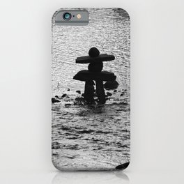 Inukshuk in Saint Élie de Caxton iPhone Case