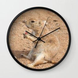 Prairie Dog Snack Time Wall Clock
