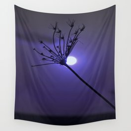 Silhouette On Blue Wall Tapestry