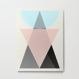 Simple geometric composition Metal Print