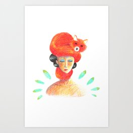 Miss Fox Art Print