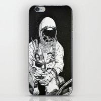 spaceman iPhone & iPod Skins featuring Spaceman by Bri Jacobs