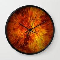 big bang Wall Clocks featuring big bang by siloto