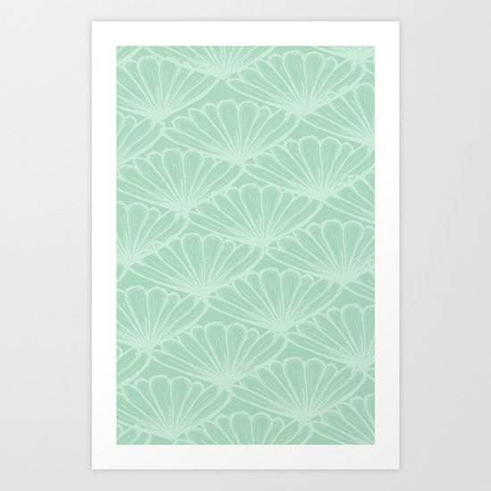 Lady in Mint Art Print