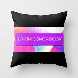 Love&Compassion Throw Pillow