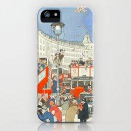 "William Heath Robinson - ""The Spirit of Christmas in Regent Street"" (1928) iPhone Case"