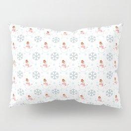 Snowmans snowball fight Pillow Sham