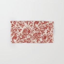 Toile de jouy (Roses) Hand & Bath Towel