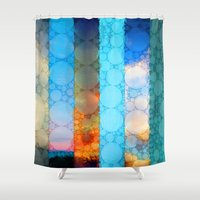 blues Shower Curtains featuring Blues by Olivia Joy StClaire