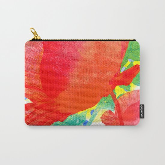 Poppy and dots Carry-All Pouch