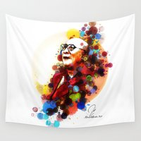 lama Wall Tapestries featuring Dalai Lama by Rene Alberto