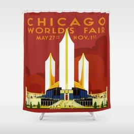 1933 Chicago World's Fair Shower Curtain