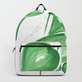 Green leafs Backpack