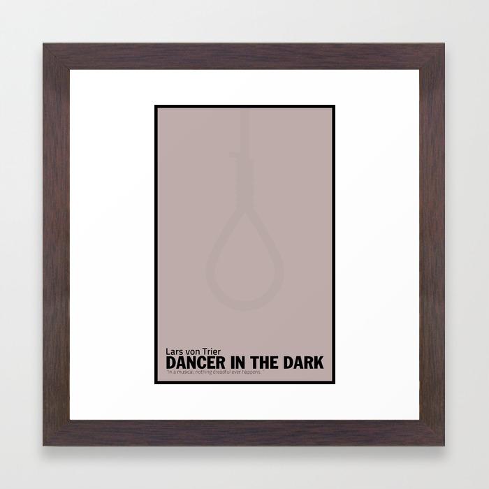 Dancer In The Dark Minimalist Movie Poster Framed Art Print By Esecamalich Society6