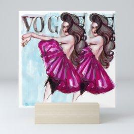 Strike that pose! Mini Art Print
