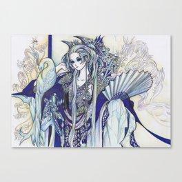 Madame Blue Canvas Print