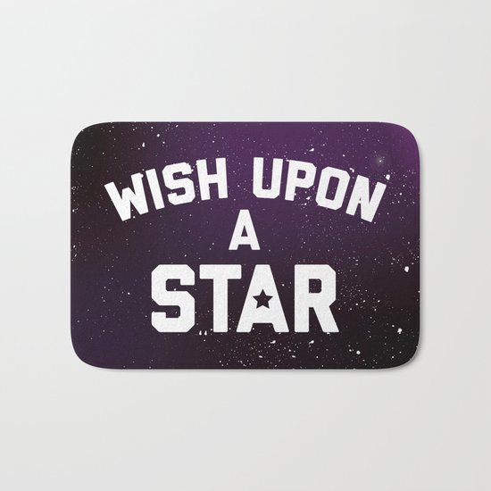 Wish Upon Star Quote Bath Mat