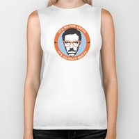 house md Biker Tanks featuring HOUSE MD: IT'S NOT LUPUS, IT'S BEETS by MDRMDRMDR