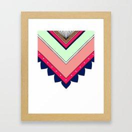 Colorful Tribal Pattern Framed Art Print