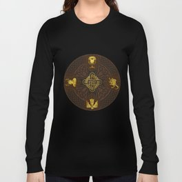 Ilvermorny Knot with House Shields Long Sleeve T-shirt