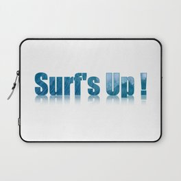 Surfs Up Text Art Filled with a Wave Laptop Sleeve