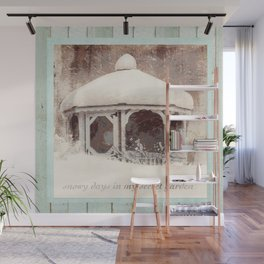 secret garden gazebo Wall Mural