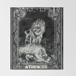 STRENGTH of Tarot Cat Throw Blanket