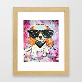 Puppy Pop Framed Art Print