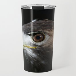 Sparkle In The Eye - Red-tailed Hawk Travel Mug