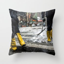 NYC Blizzard of 2015 Throw Pillow