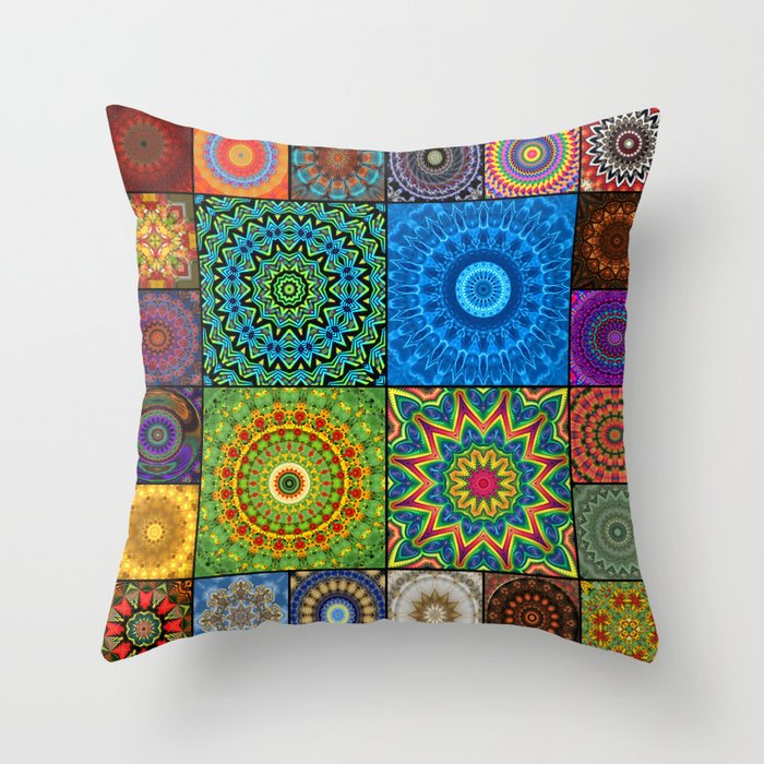 Mandala Madness Throw Pillow