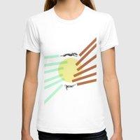 greyhound T-shirts featuring Greyhound Round by Uzair Choughtai