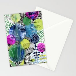 Indigo Blooms Stationery Cards