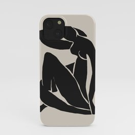 Black Nude Woman  iPhone Case