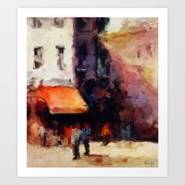 Sunday in the Market Art Print