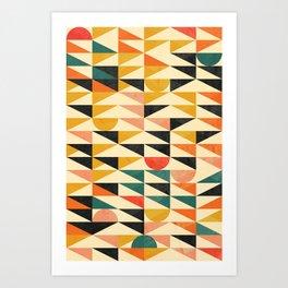 923 // Mid Century Geometry I Art Print